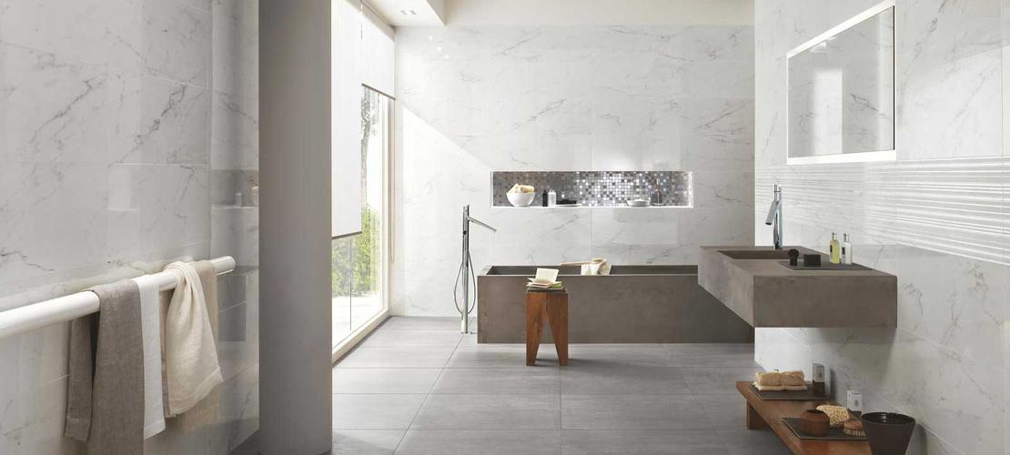 Daylight Collection: Marble effect bathroom tiles | Ragno