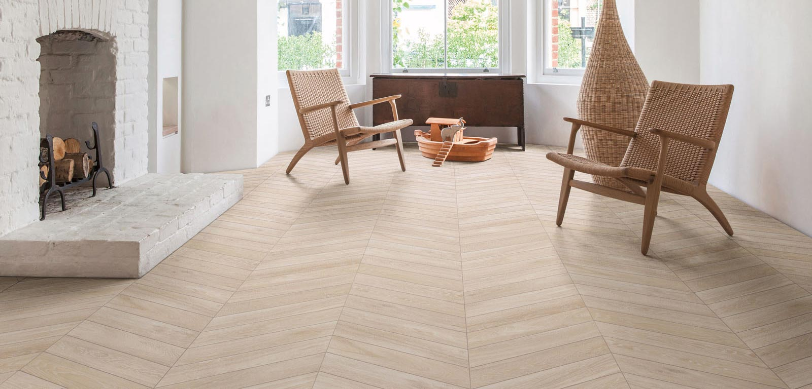 Woodchoice, the wood-effect stoneware that recalls the parquet of bygone days