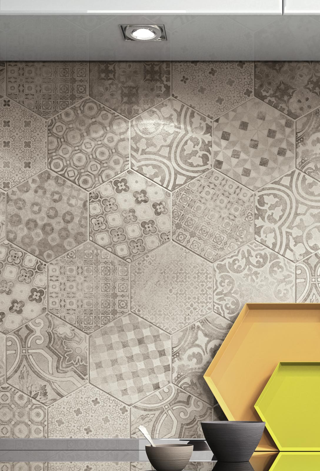 Hexagon Tiles For Home Decoration Ragno