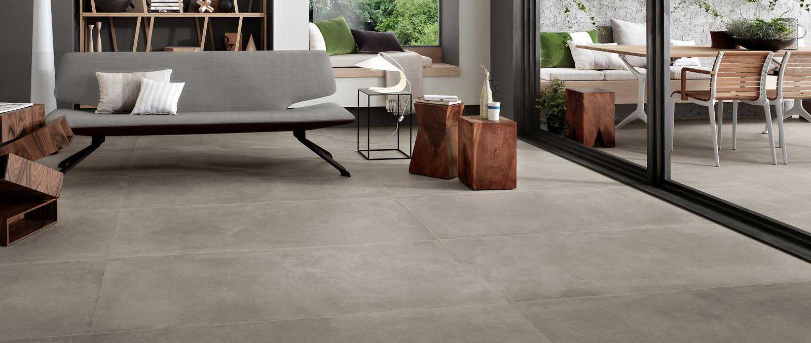 Boom. The new concrete effect tile by Ragno