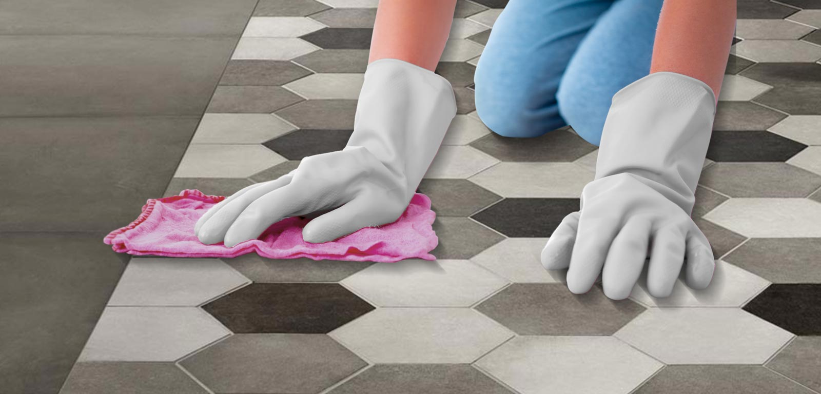 How to clean the joints between ceramic tiles