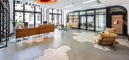 "Ragno cement tiles for ""the best office in the world"""