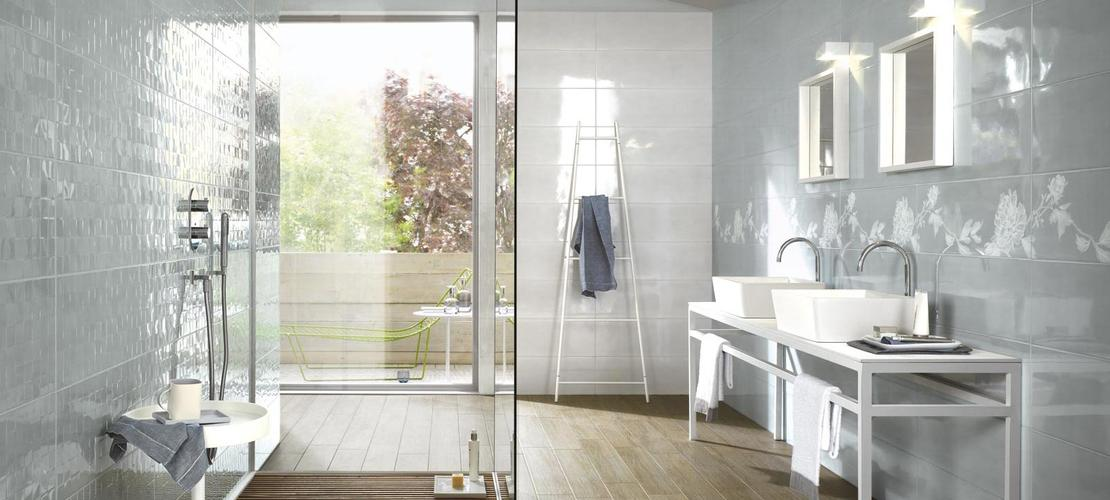 Handmade Collection: Gloss effect bathroom walls  Ragno