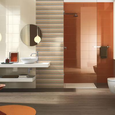 Smart - glossy coloured wall tiles for bathrooms