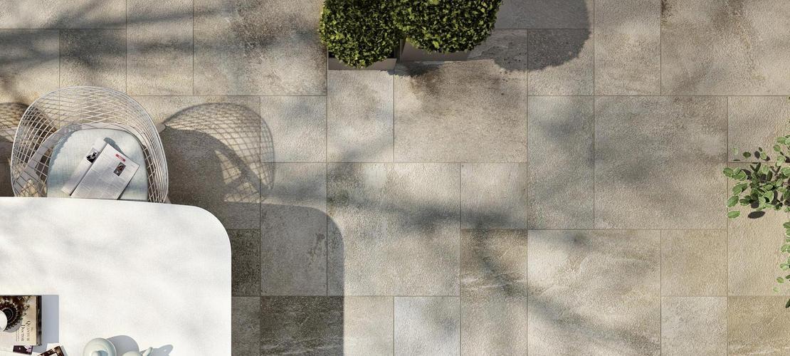 Stoneway barge antica collection outdoor tiles ragno for Piastrelle esterno 15x15