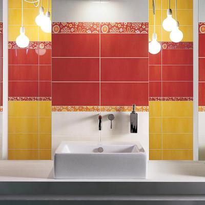 Summer - ceramic tiles with glossy and coloured surface