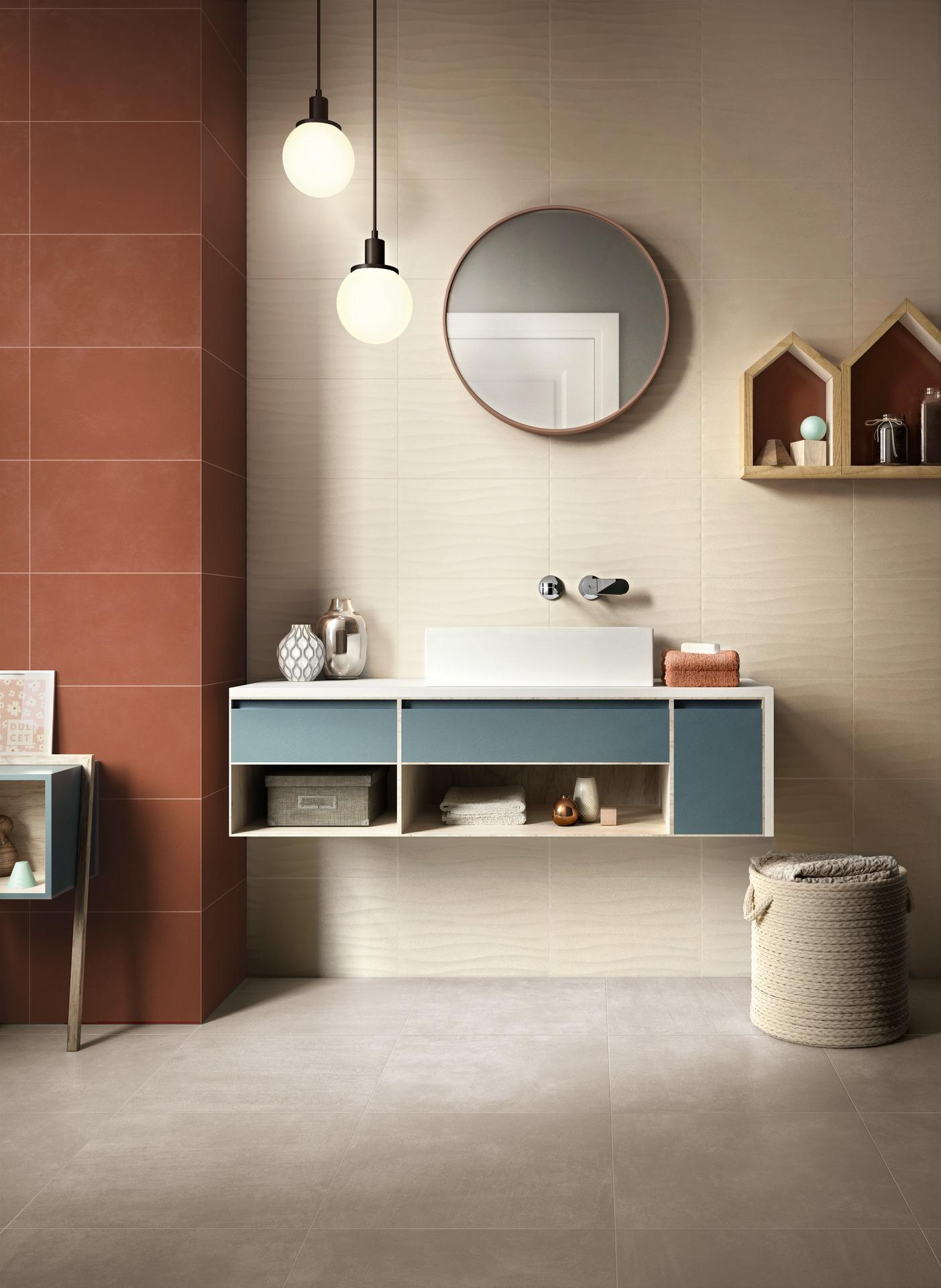 Bathroom flooring in porcelain stoneware ragno - Top bagno gres porcellanato ...