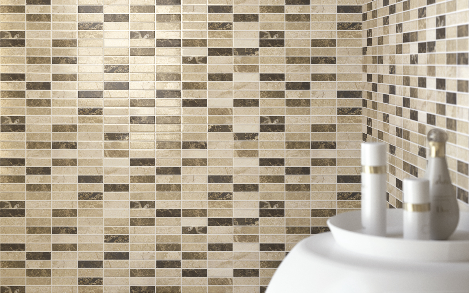 Game collection ceramic mosaic tiles for the home ragno for Piastrelle a mosaico per bagno