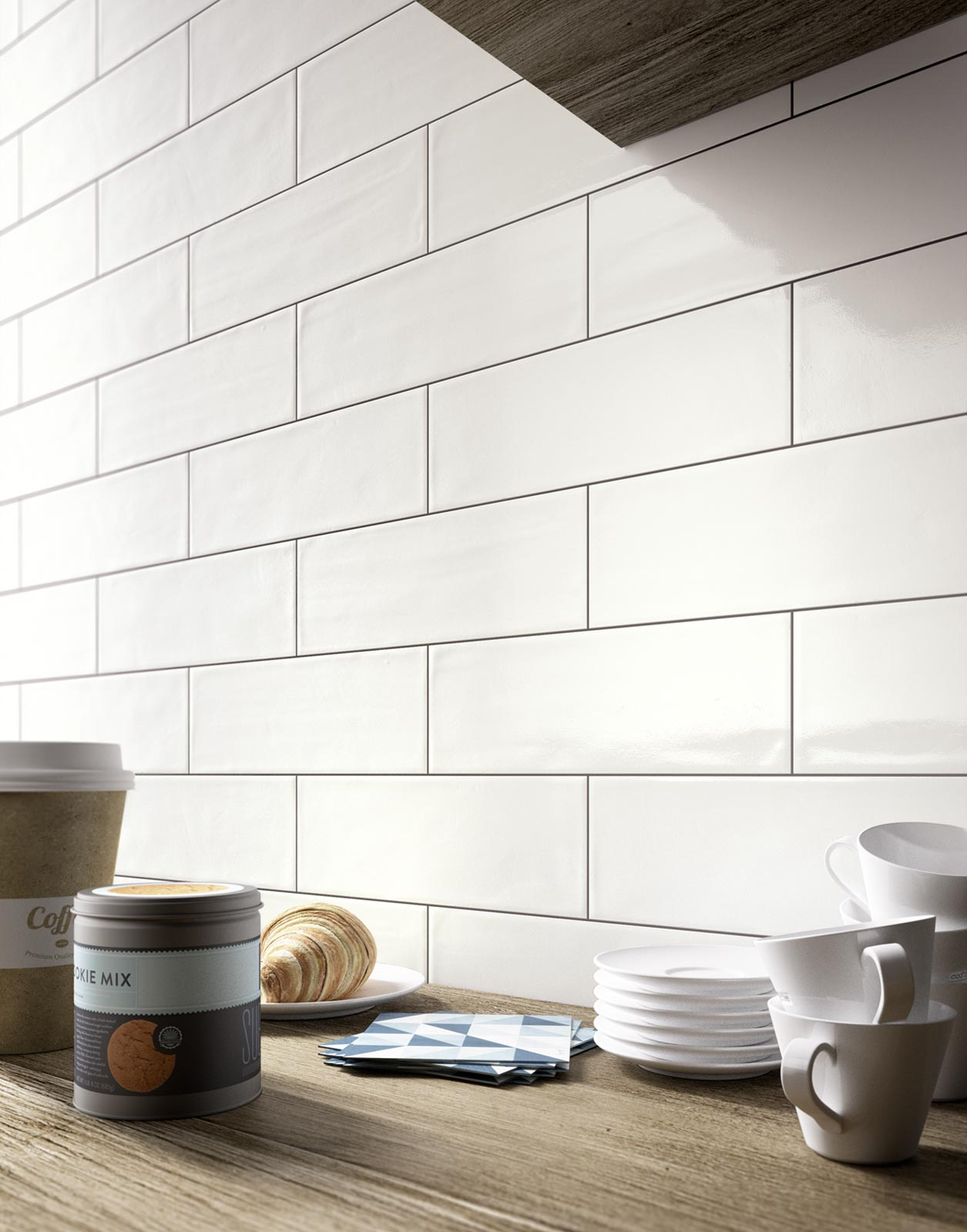 Brick glossy collection kitchen and bathroom wall tiles for Kitchen and bathroom