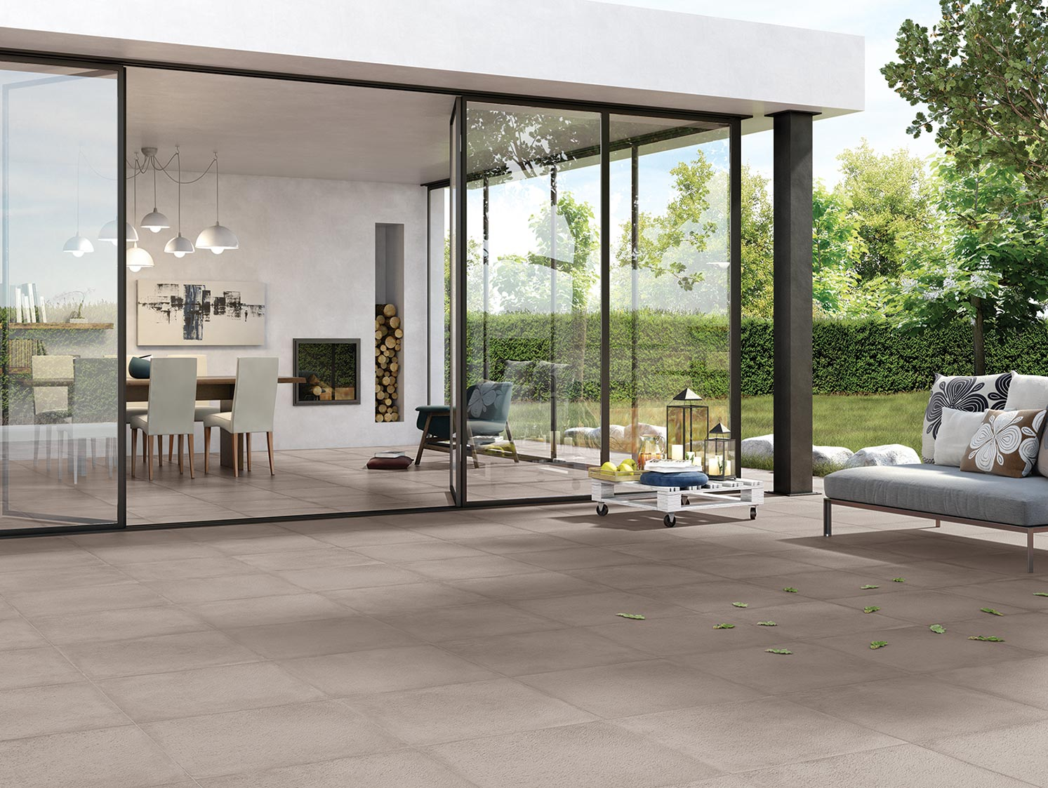 Rewind xt20 collection terracotta concrete effect for Indoor outdoor flooring options