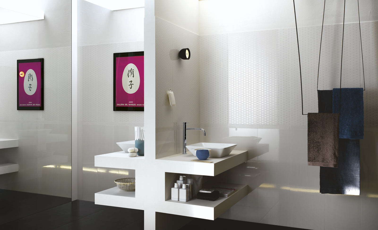 Simple Bathroom Bathrooms Glossy Wall Bathroomideas Wall Tiles Forward Glossy