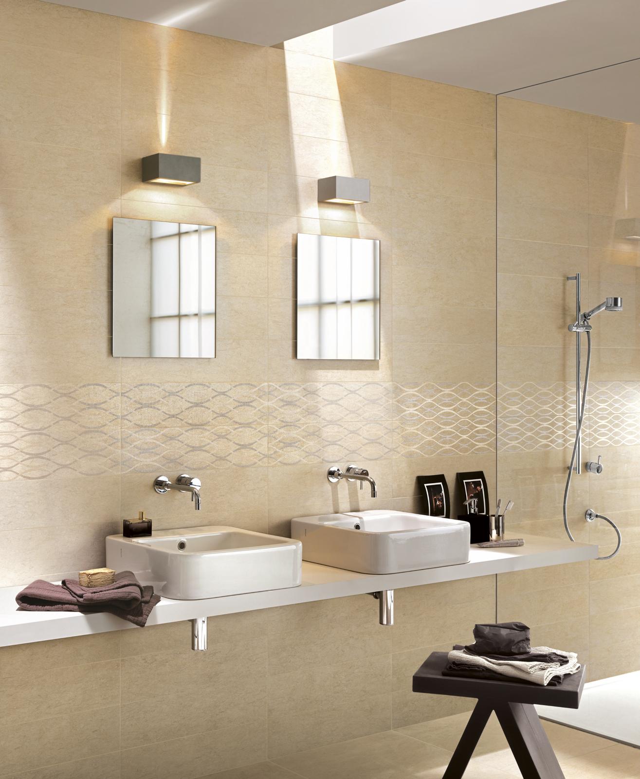 Touch collection natural stone effect porcelain stoneware - Ceramiche bagno ragno ...