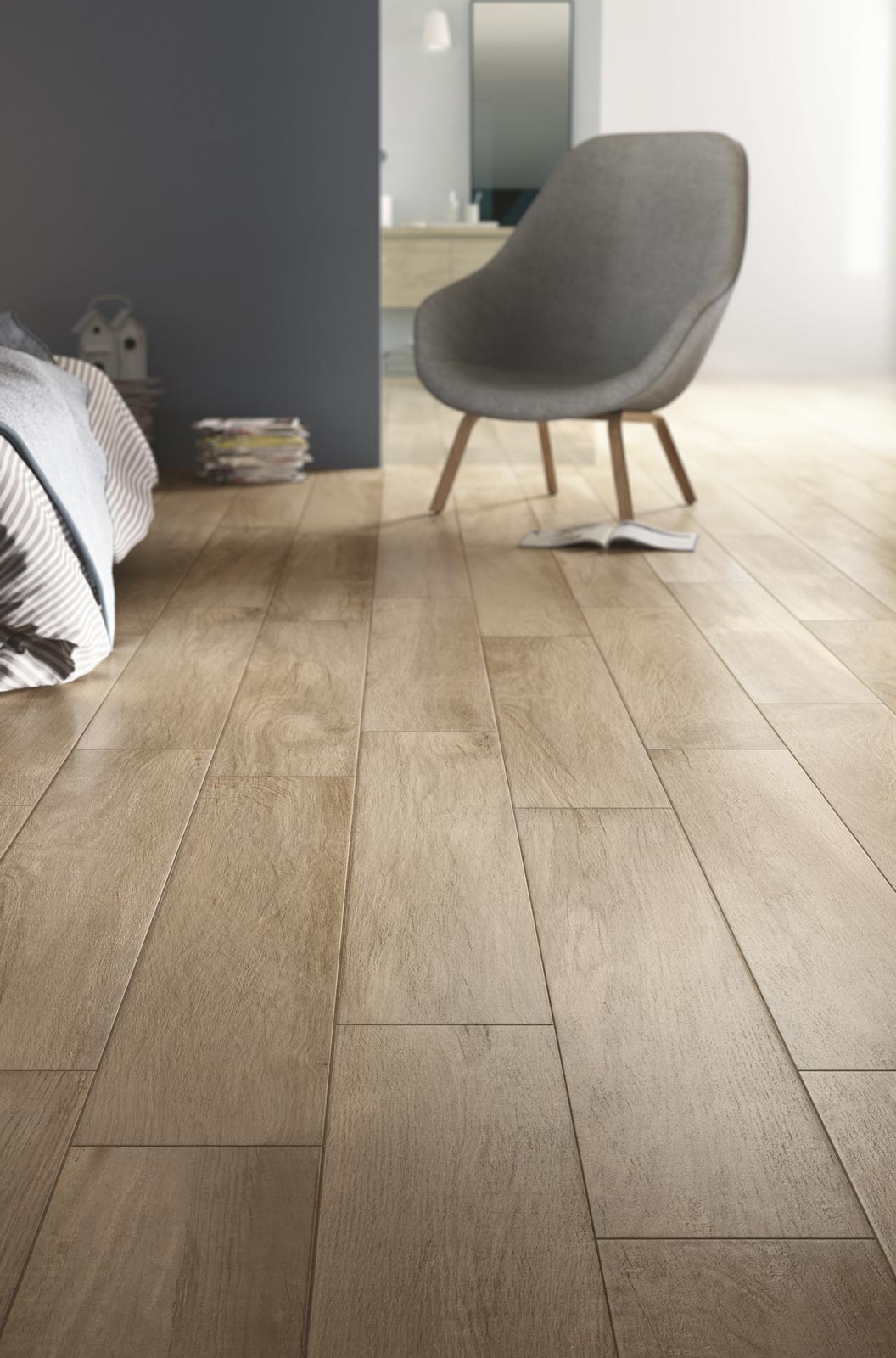 Woodplace wood effect porcelain stoneware ragno for Plinthe en bois sur carrelage