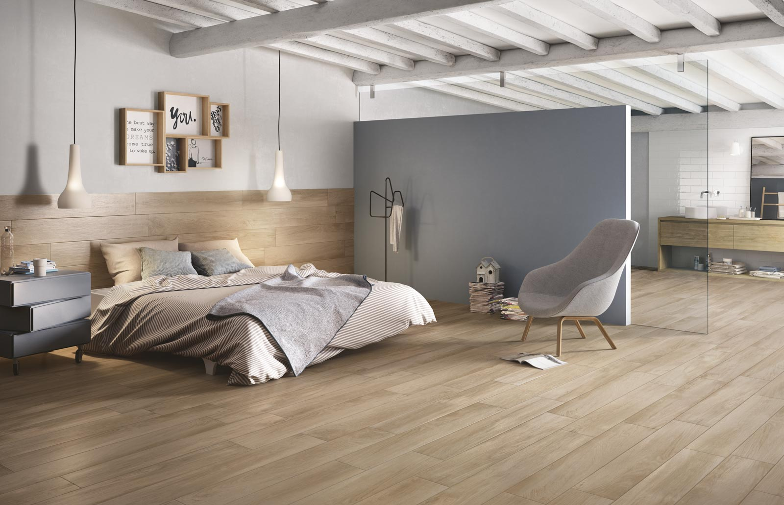 Woodplace wood effect porcelain stoneware ragno for Bedroom tiles texture